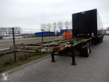Flandria 3x 20 FT Chassis / Steel suspension / Double montage semi-trailer