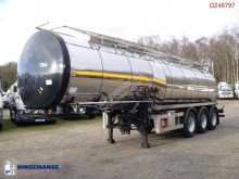 Clayton Heavy oil / bitumen tank inox 30 m3 / 1 comp + pump semi-trailer