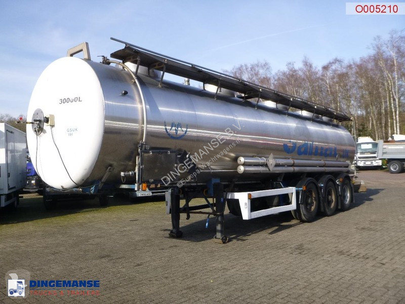 Voir les photos Semi remorque Magyar Chemical tank inox 30 m3 / 1 comp
