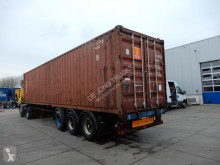 semi reboque Van Hool 40 FT chassis / With container! / Steel suspension