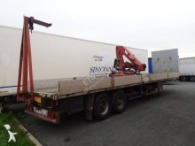 Trouillet dropside flatbed semi-trailer