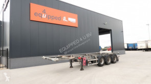 semi reboque Groenewegen ADR (EXII, EXIII, FL, AT, OX) valid ill 26-04-2020, BPW, ALCOA, liftaxle, 20FT/30FT, galvanised, NL-chassis, APK: 04/2020