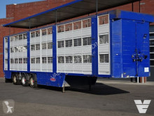 semirremolque Finkl SAV35 3Stock Livestock trailer, Steering/lift Axle Loading lift