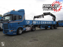 KWB with Hiab 355 with jib, remote semi-trailer