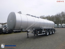 semi remorque Fruehauf Bitumen / heavy oil tank inox 32.2 m3 / 1 comp / ADR 12/2019