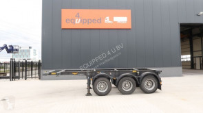 semi reboque Broshuis 20FT ADR-chassis, 3 axles, empty-weight: 3.640KG, valid ADR/MOT till 2/2020