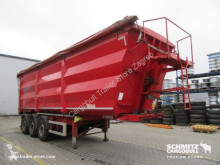 semi reboque Kempf Semitrailer Tipper Steel half pipe body 47m³