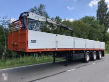 naczepa Floor steentrailer 3 asser + kennis 14 tons kraan