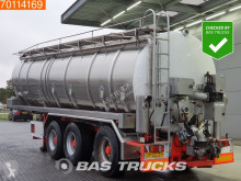Vocol 36.000 Ltr RVS Mesttank Pomp / Monstersysteem Liftas Stuuras semi-trailer