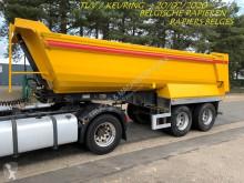 semi remorque Galtrailer 2-AS HALF-PIPE - SAF - STAAL CHASSIS / STALEN KUIP - HYDR KLEP - +/- 20M³ - BELGISCHE PAPIEREN ----- CHASSIS ACIER / BENNE ACIER