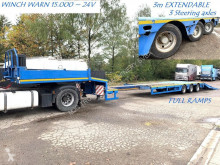 Faymonville STZ-3AU - 48~60 Tons - LOWLOADER - EXTENDABLE 3m - FULL RAMPS - 3x STEERING AXLES (SAF) - WINCH - BE PAPERS