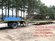 porte engins Faymonville STZ-3AU - 48~60 Tonnen - 3 achsen TIEFLADER - AUSSCHIEBBAHR 3m - VOLLE RAMP - 3x LENKACHSEN (SAF) - WINDE - BE BRIEF