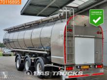 semi remorque Burg 34.000 Ltr Milk / Milch Lift+ 2x Lenkachse BPO 13-30 RCZXX