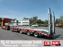 Humbaur 3-Achs-Satteltieflader mit Radmulden semi-trailer
