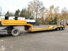 porta máquinas Goldhofer STZ-T3 - 48 TONS - 3 HYDR. STEERING AXLES - HYDR RAMPS - 60CM LOWBED - GOOD TIRES - STEEL SUSPENSION / BLATT