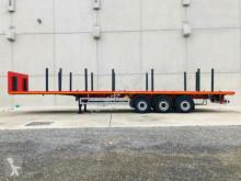 Möslein 3 Achs Plattform Auflieger mit Rungen-- Neufahr semi-trailer