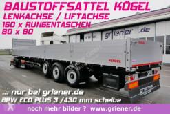 semi remorque Kögel SN24 /BAUSTOFFSATTEL 800 BW /RUNGEN LENKACHSE