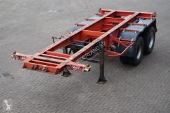 semi remorque Van Hool Container chassis 20ft / Steel suspension