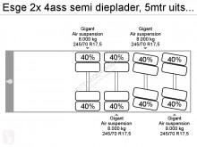 Voir les photos Semi remorque nc 2x 4ass semi dieplader, 5mtr uitschuifbaar