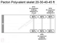 Voir les photos Semi remorque Pacton Polyvalent skelet 20-30-40-45 ft