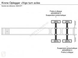 Voir les photos Semi remorque Krone Oplegger +frigo turn axles