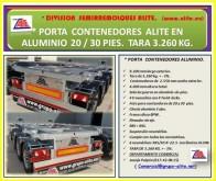 Voir les photos Semi remorque Alite PORTA CONTENEDORES DE ALUMINIO 20 PIES SUPER LIGEROS ALITE.