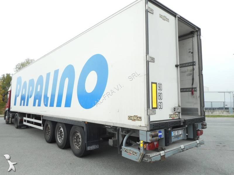Semi remorque chereau frigo carrier mono temp rature 3 essieux hayon occasion n 2242590 - Temperature frigo 10 degres ...