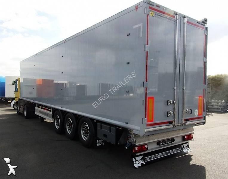 semi remorque kraker trailers fond mouvant cf z k force 3 essieux neuve n 470616. Black Bedroom Furniture Sets. Home Design Ideas