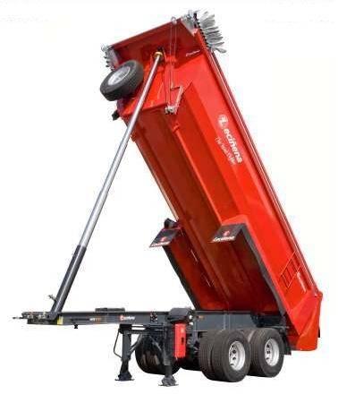 Semi remorque leci ena benne enrochement semi benne tp ronde 19 20m3 2 essieux neuve n 487396 - Dimension camion 20m3 ...