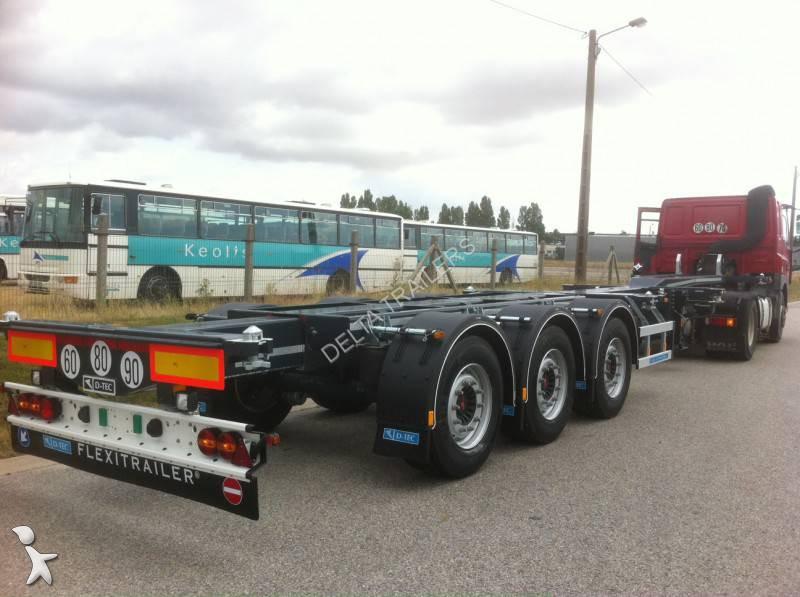 Semi remorque dtec porte containers flexitrailer ls for Container d occasion prix