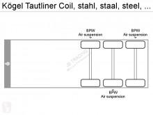 Voir les photos Semi remorque Kögel Tautliner Coil, stahl, staal, steel, DRUM BRAKES