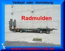 remorque Müller-Mitteltal 4 Achs Tieflader Anhänger mit Radmulden