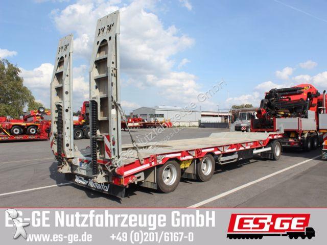Remorque Müller-Mitteltal 3-Achs-Tieflade-Anhänger mit Rampen