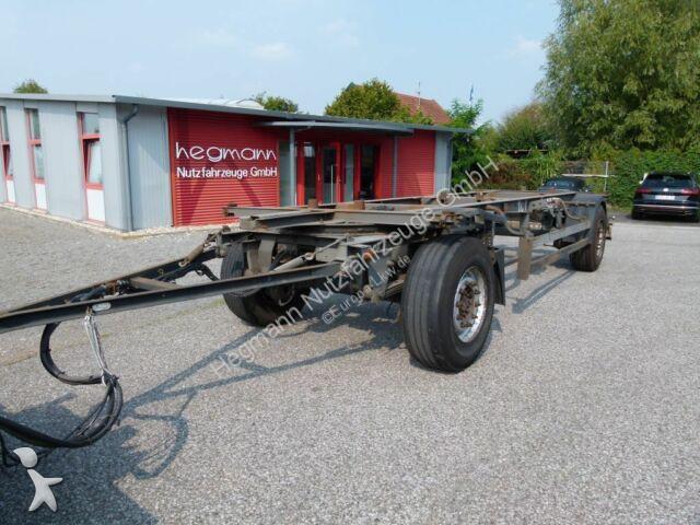 Remorque Schmitz Cargobull AWF 18, standart BDF-Lafette, verzinkt, deutsch