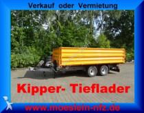 remorque Müller-Mitteltal Tandemkipper Tieflader, Aufsatzbordwände