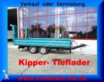 remorque Obermaier Tandem 3 Seiten Kipper Tieflader