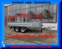 remorque Möslein Tandem 3 Seiten Kipper Tieflader, 5,54 m lang
