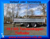 remorque Möslein 19 t Tandem 3 Seiten Kipper Tieflader
