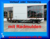 trasporto macchinari Müller-Mitteltal 4 Achs Tieflader Anhänger mit Radmulden