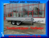 Möslein neuer Tandem Kipper Tieflader, Breitbereifung, trailer