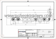 rimorchio nc SCHENK - 4-axle low loader trailer with cranked platform with wheel well neuf