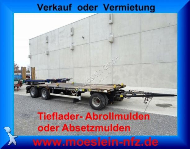 Möslein 3 Achs Kombi  Tieflader  Abroll  und Absetzmulde trailer