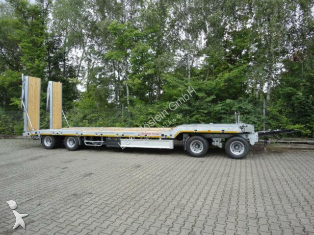 Möslein 4 Achs Tieflader  Anhänger, 2 teiligen hydr. Ram trailer