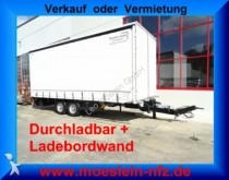 Möslein TPS 105 D-L Tandem Planenanhänger mit Ladebordwa trailer