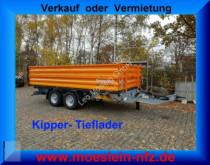 remorque Möslein TTD11- BA Orange Tandem Kipper Tiefladermit Bord
