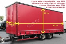 remorque Panav TRAILER PANAV MEGA CURTAIN TV 18LPK 20 PALLETS
