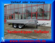 Möslein TTD 105 Tandem- Dreiseiten- Kippanhänger Tieflad trailer