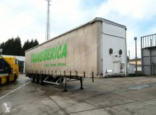 remolque Fruehauf full steel frame tri axle 34 ton with lifting roof