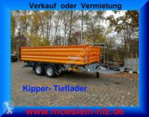 reboque Möslein TTD11- BA Orange Tandem Kipper Tiefladermit Bord