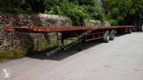 reboque Netam Two axle trailer with twist locks on springs suspension
